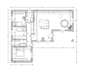 thumbnail of Villa A132 L plan